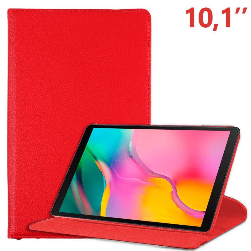 COOL Funda Samsung Galaxy Tab A (2019) T510 / T515 Polipiel Liso Rojo