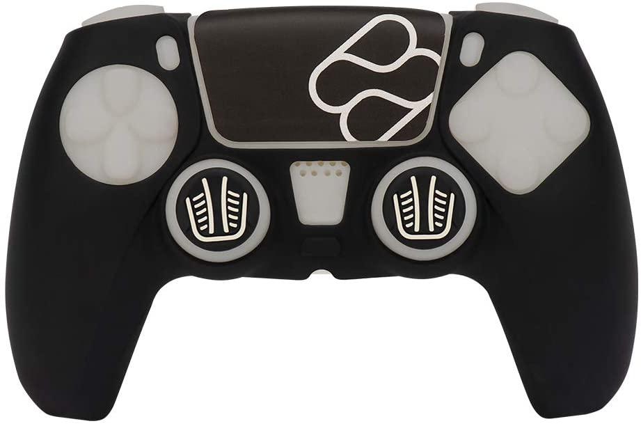 FRTEC Funda Silicona Skin + Grip mando PS5 Negro