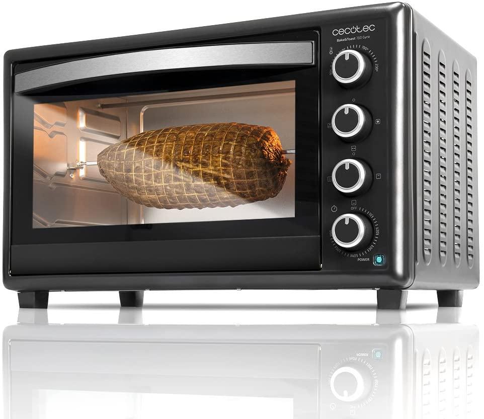 CECOTEC Horno de sobremesa Bake'n Toast 750 Gyro 46 litros - Negro