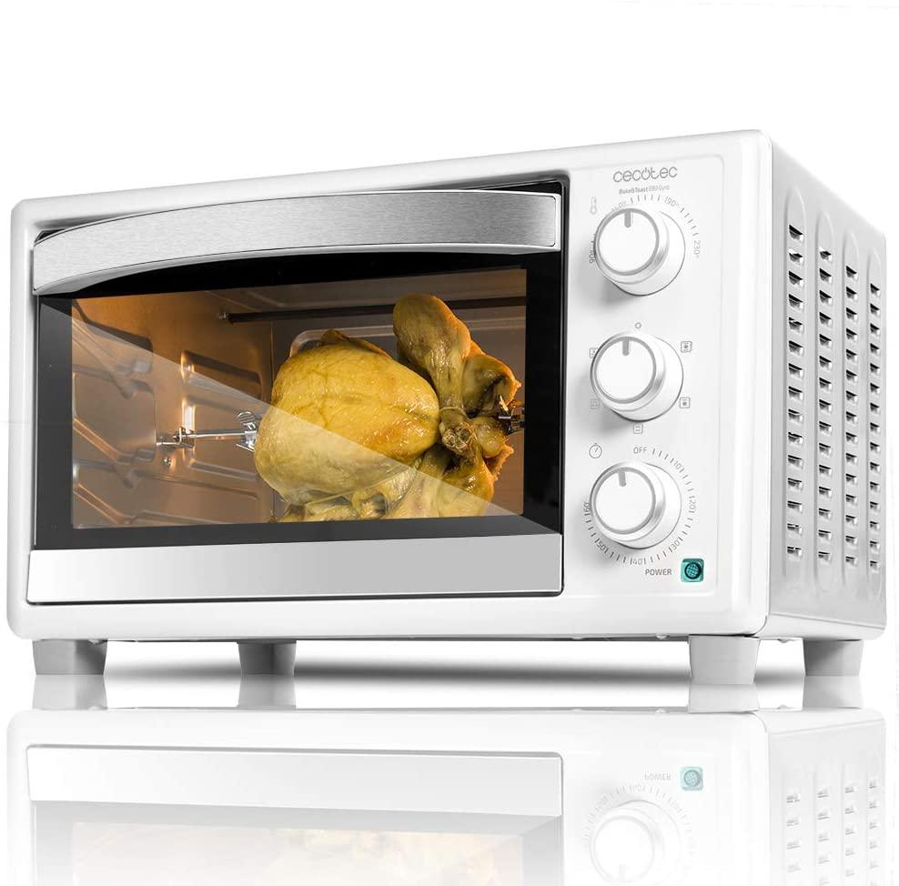 CECOTEC Horno de sobremesa Bake'n Toast 690 Gyro 30 litros - Blanco