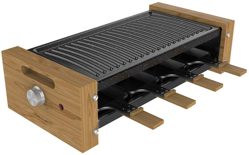 CECOTEC Raclette Cheese&Grill 8200 Wood Black