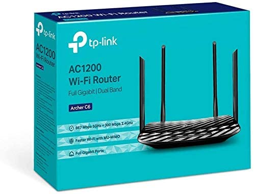 TP-LINK Router Wifi Archer C6 AC1200 Dual Band 867Mbps