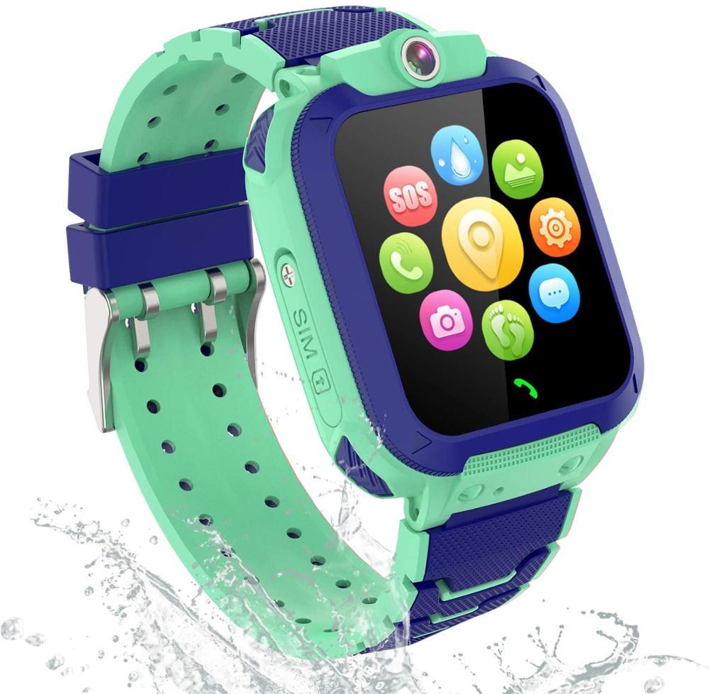PTHTECHUS Reloj Inteligente Niño con Telefono y GPS Verde