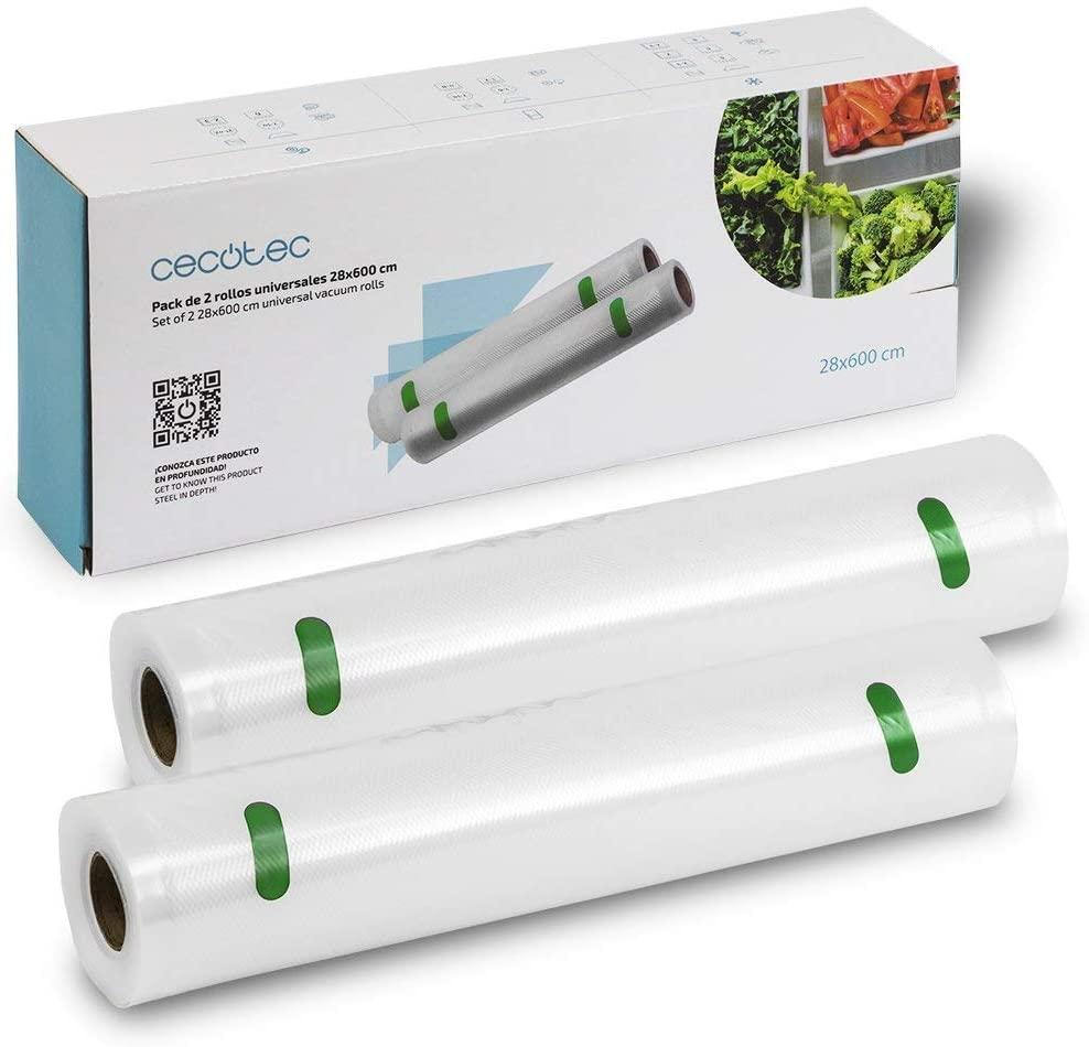 CECOTEC Pack de rollos 28 x 800 para envasadora