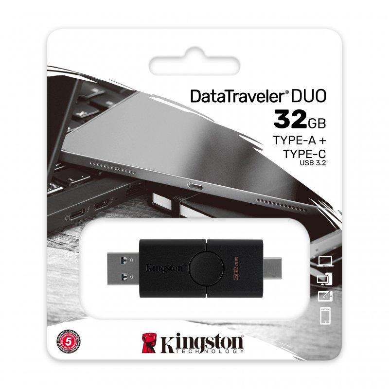 KINGSTON Pendrive Datatraveler Duo Memoria USB - USB Tipo C - 32GB