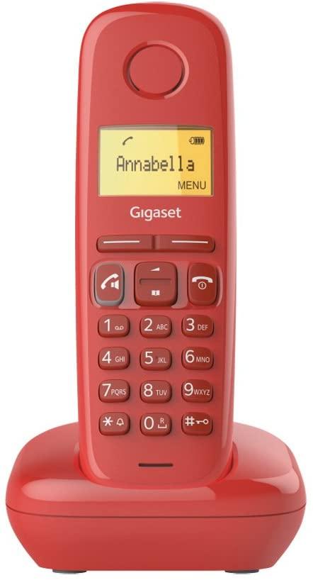 GIGASET Telefono Fijo Inalambrico A270 - Rojo