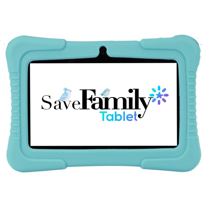 """SAVEFAMILY Tablet 7"""" KIDS Wifi para niños - Azul"""