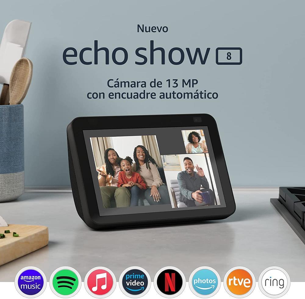 """AMAZON Echo Show 8 (2ª Gen) 2021 Altavoz con pantalla 8"""" - Antracita"""