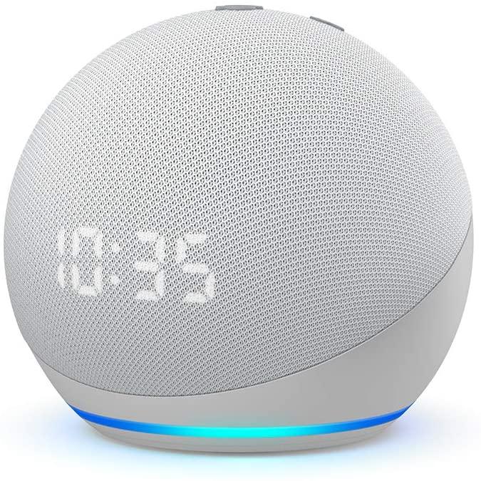 AMAZON Echo Dot 4ª Generación con Reloj - Blanco