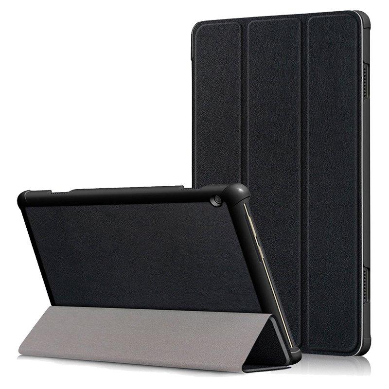 "COOL Funda para Lenovo Tab M10 10.1"" (TB-X505F / TB-X605F) Polipiel Liso - Negro"
