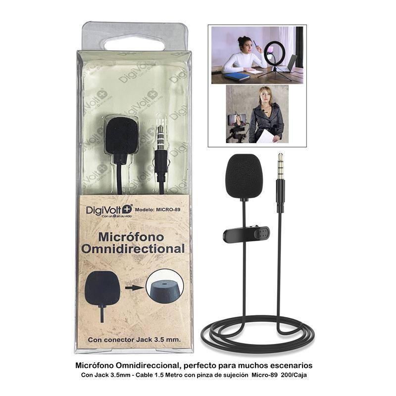 DIGIVOLT Microfono de solapa MICRO 89 Negro