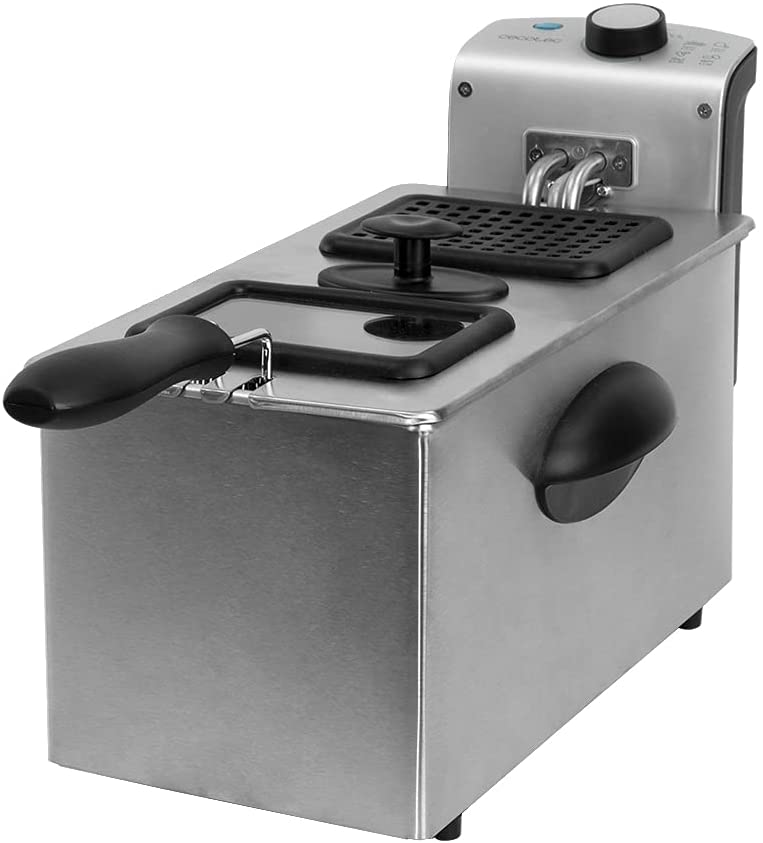 CECOTEC Freidora CleanFry 3000 3L - Full Inox