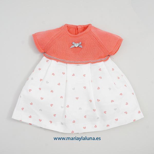 Pangasa Vestido Sweetie Coral 9 y 18  meses