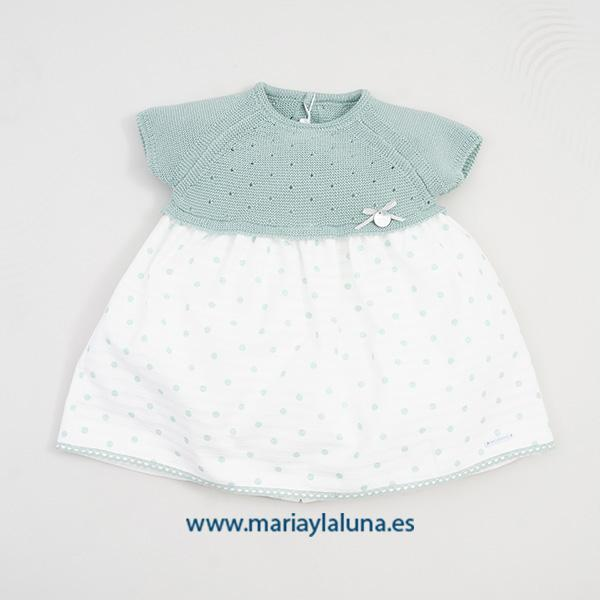 Pangasa Vestido Mint Verde 6, 12 y 24 meses