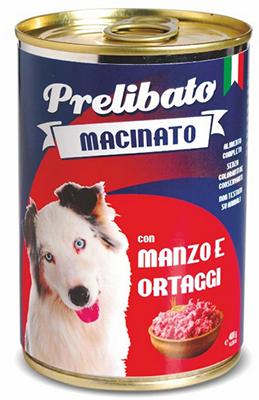 Prelibato Macinato Húmedo con carne en latas 400gr.