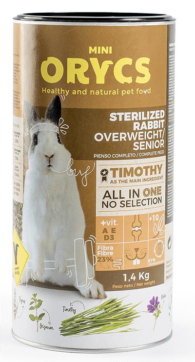 Mini Orycs Conejo Enano Esterilizado con Sobrepeso y/o Senior
