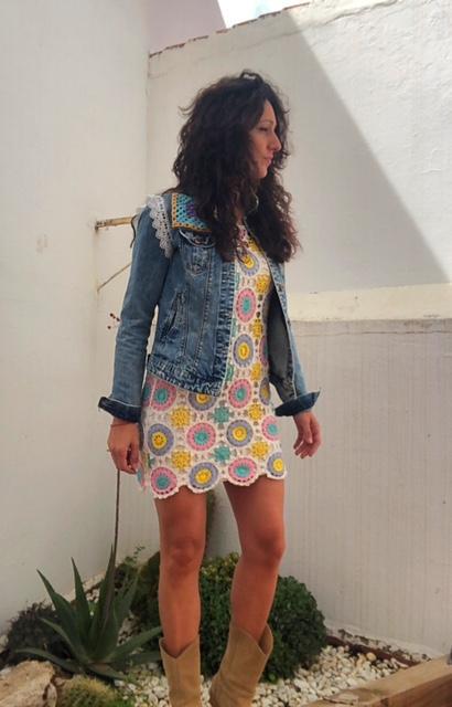 Vestido crochet Flor de Loto