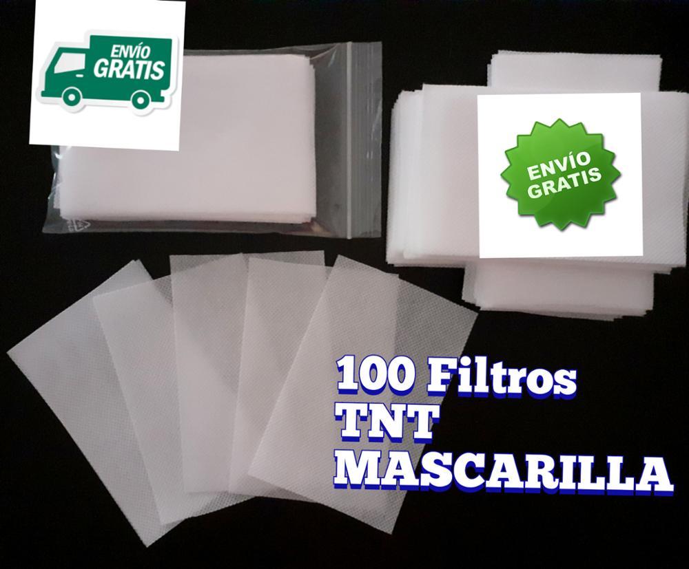 . A 100 FILTROS Mascarilla TNT 100% POLIPROPILENO Homologado