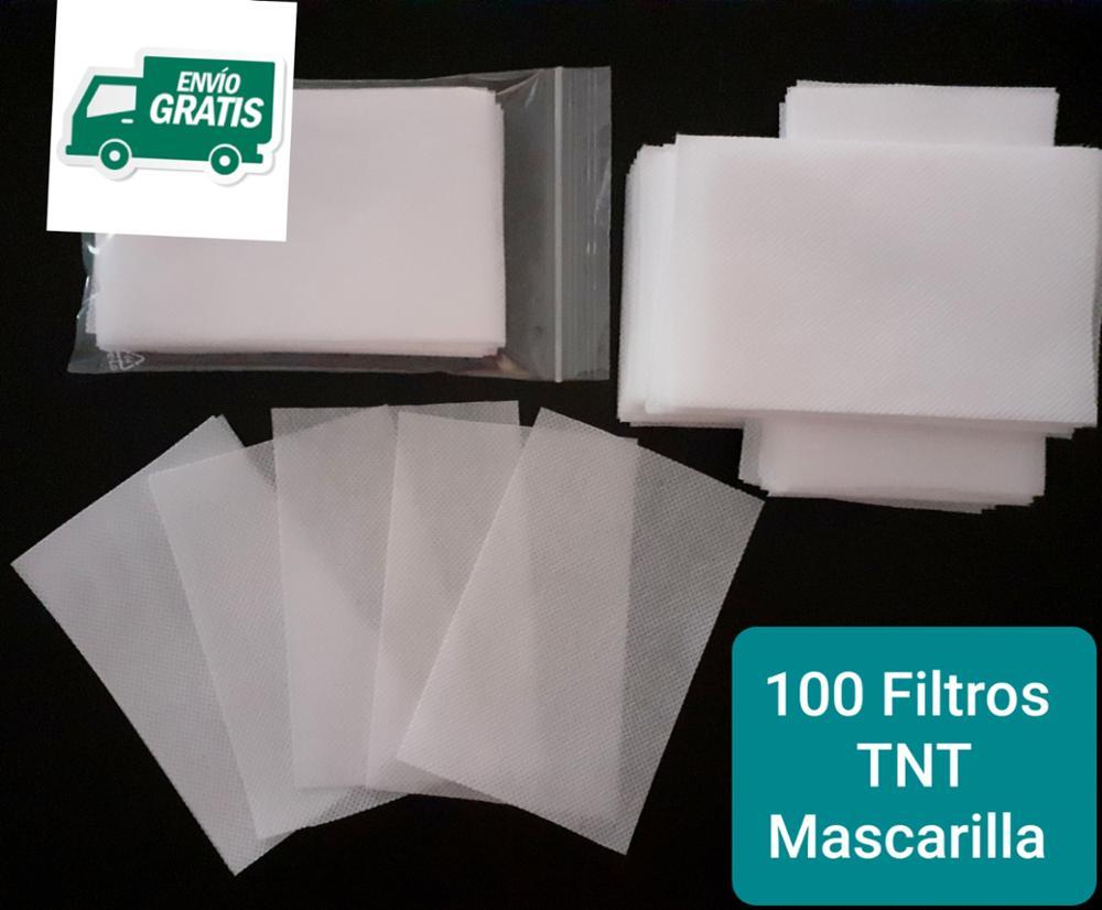 . A 100 FILTROS Mascarilla TNT 100% POLIPROPILENO