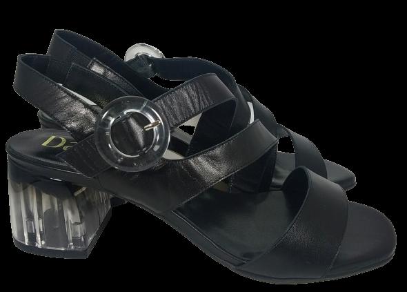 sandalia tacolette negra
