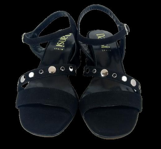 Sandalia negra ante tacolette