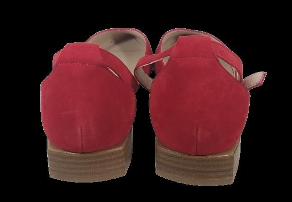 Zapato punta rojo