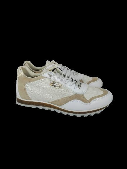Deportivo blanco y beige