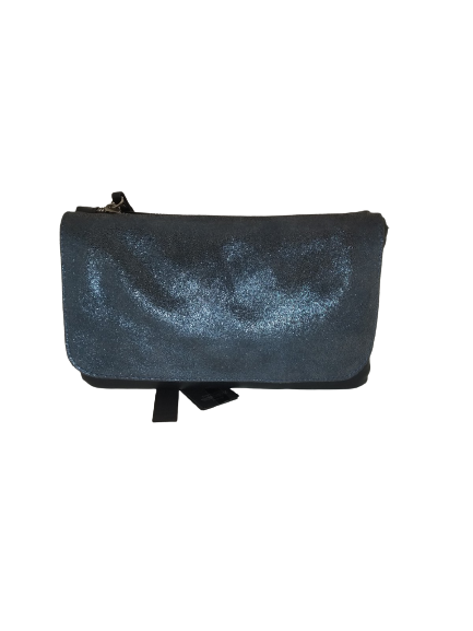 Bolso bandolera solapa metalizada