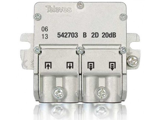 Televes Mini-Derivador 5...2400MHz 20db EasyF 2D 542703