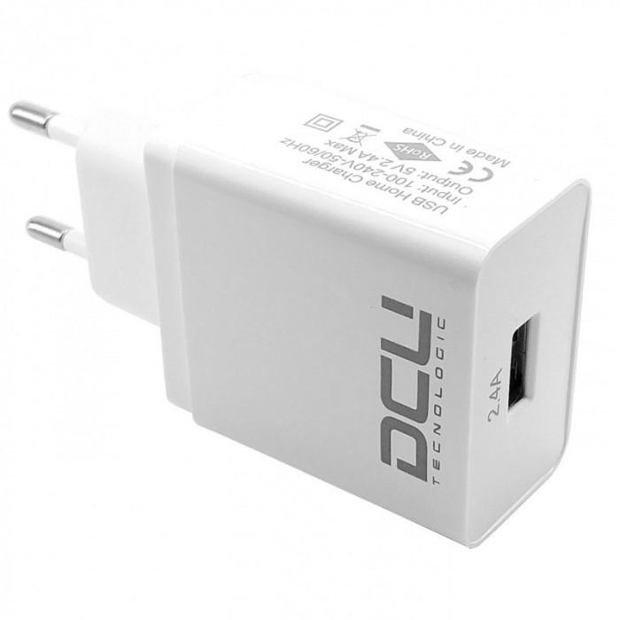 DCU Cargador USB 5 Voltios 2,4 Amperios Blanco