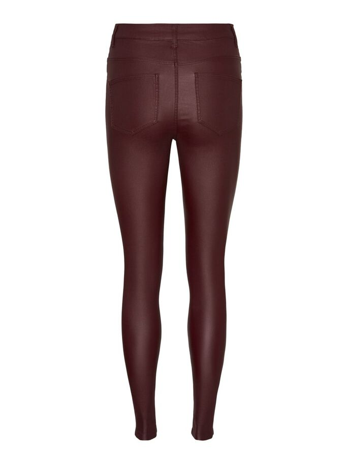 NOISY MAY COATED HIGH WAIST TROUSERS