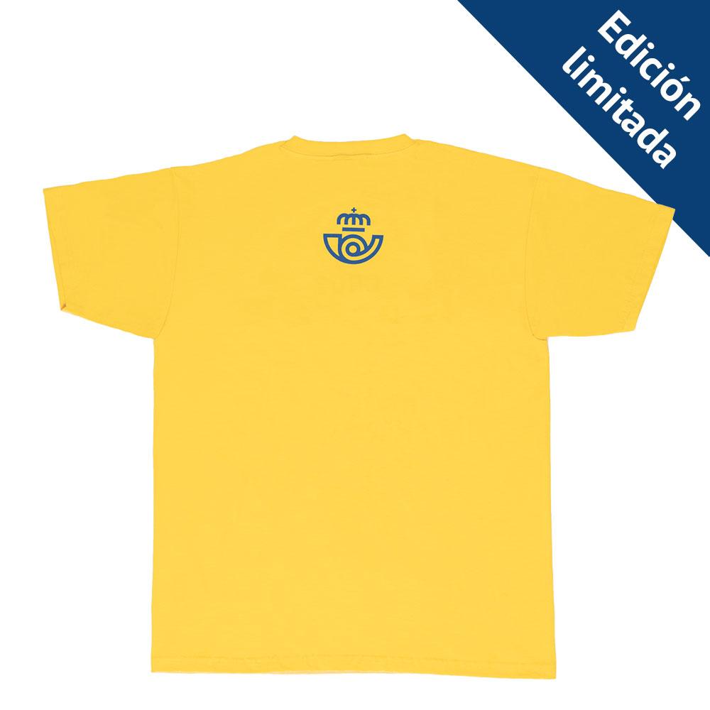 Camiseta Correos Cruz, doble eme, raya, espiral