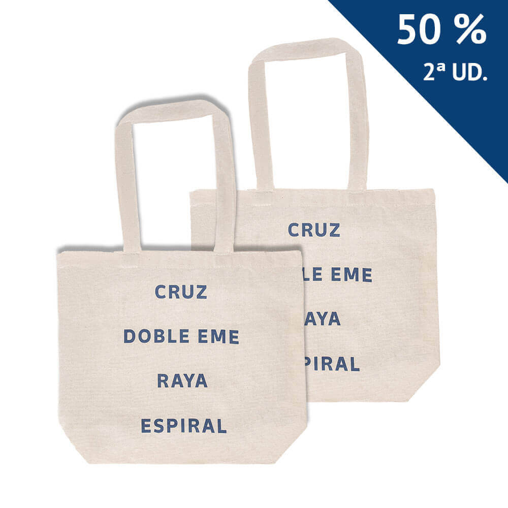 Pack 2 bolsas Correos Cruz, doble eme, raya, espiral