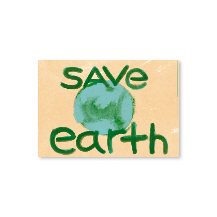 Tarjeta postal Save Earth - Protest Stamps