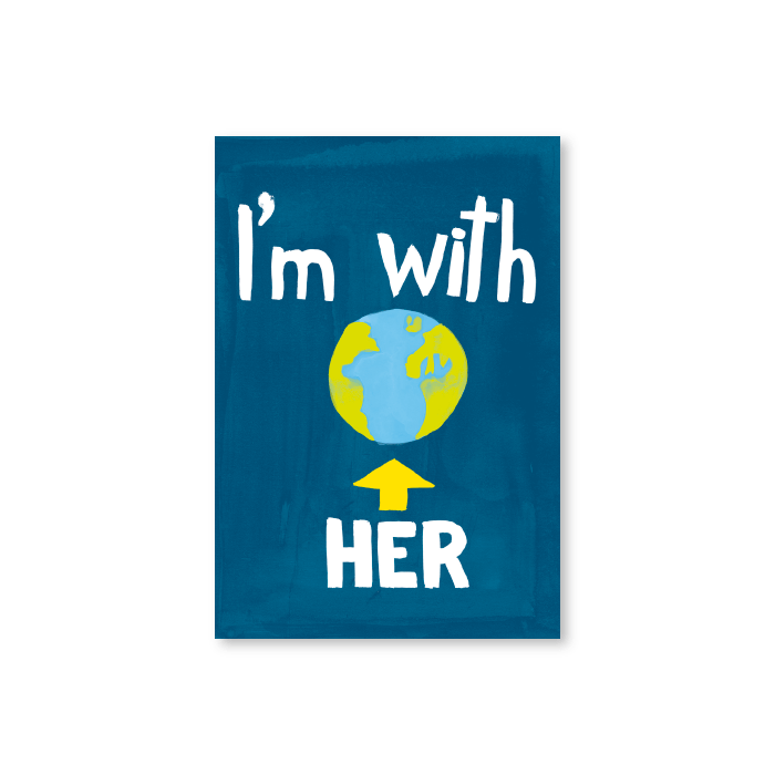 Tarjeta postal I'm with her - Protest Stamps