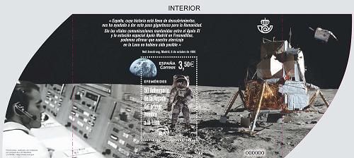 Sello hoja bloque 50 aniversario hombre a la luna