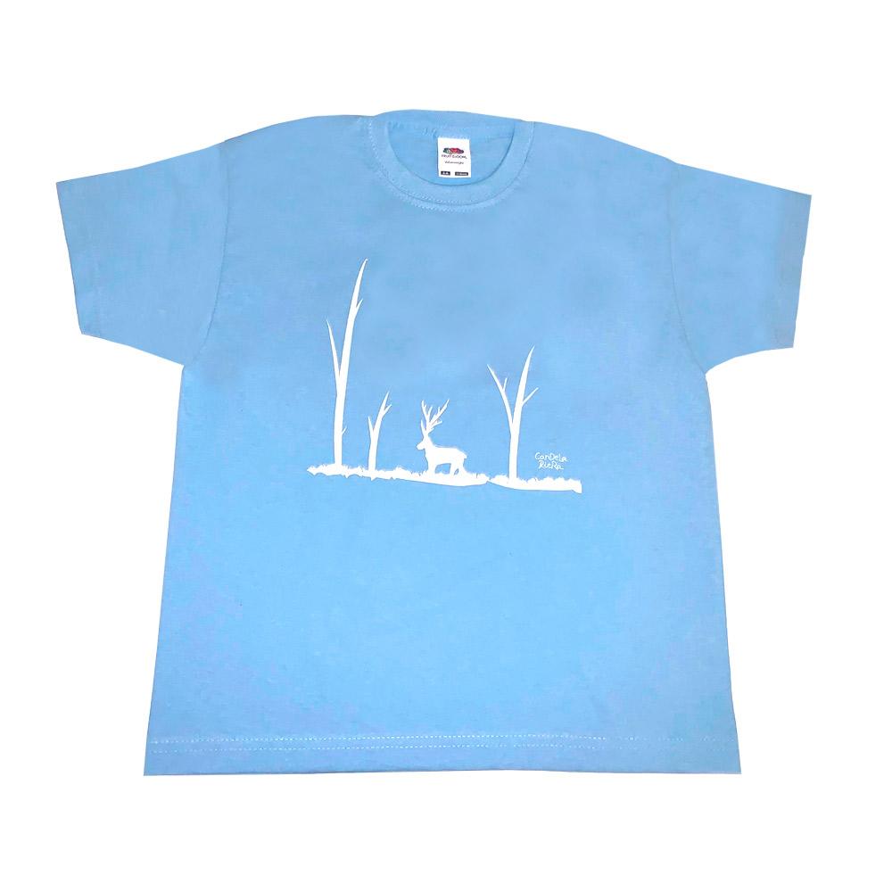 Camiseta infantil azul Candela Riera