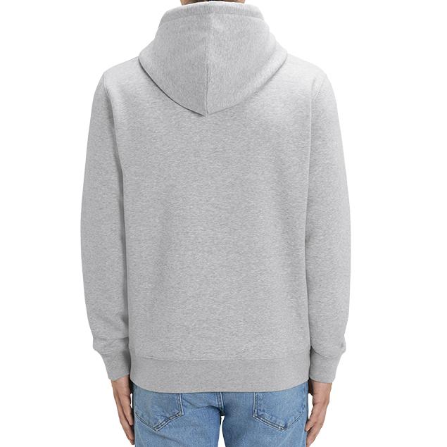 Sudadera gris con capucha sello del Camino