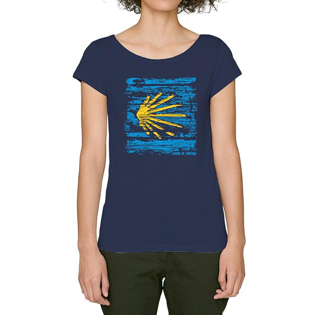 Camiseta de mujer concha del Camino
