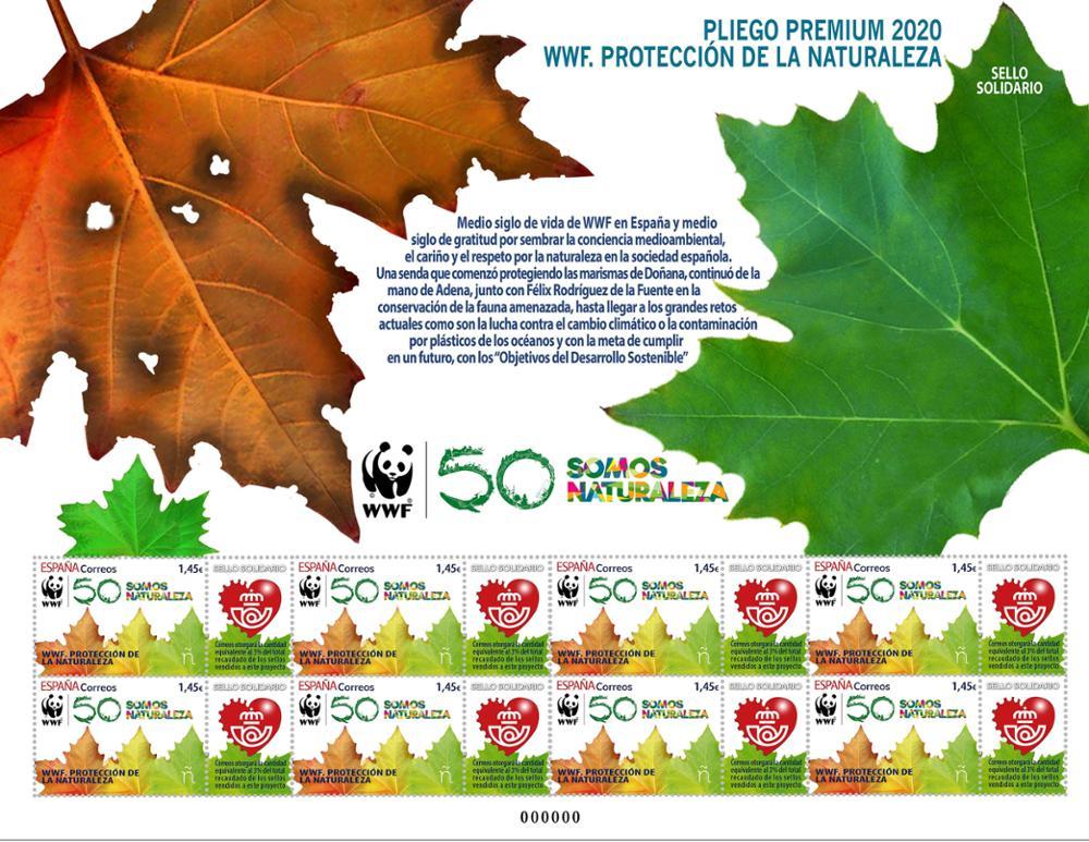 Sello solidario WWF - Protección de la naturaleza