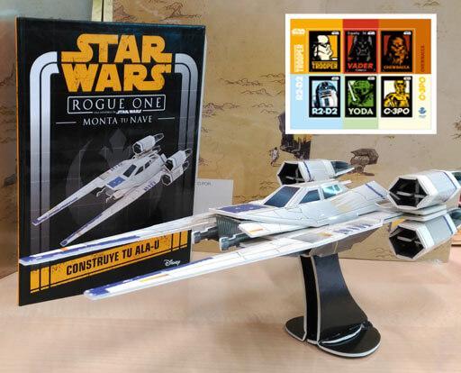 Nave Ala-U Star Wars + Sello Star Wars