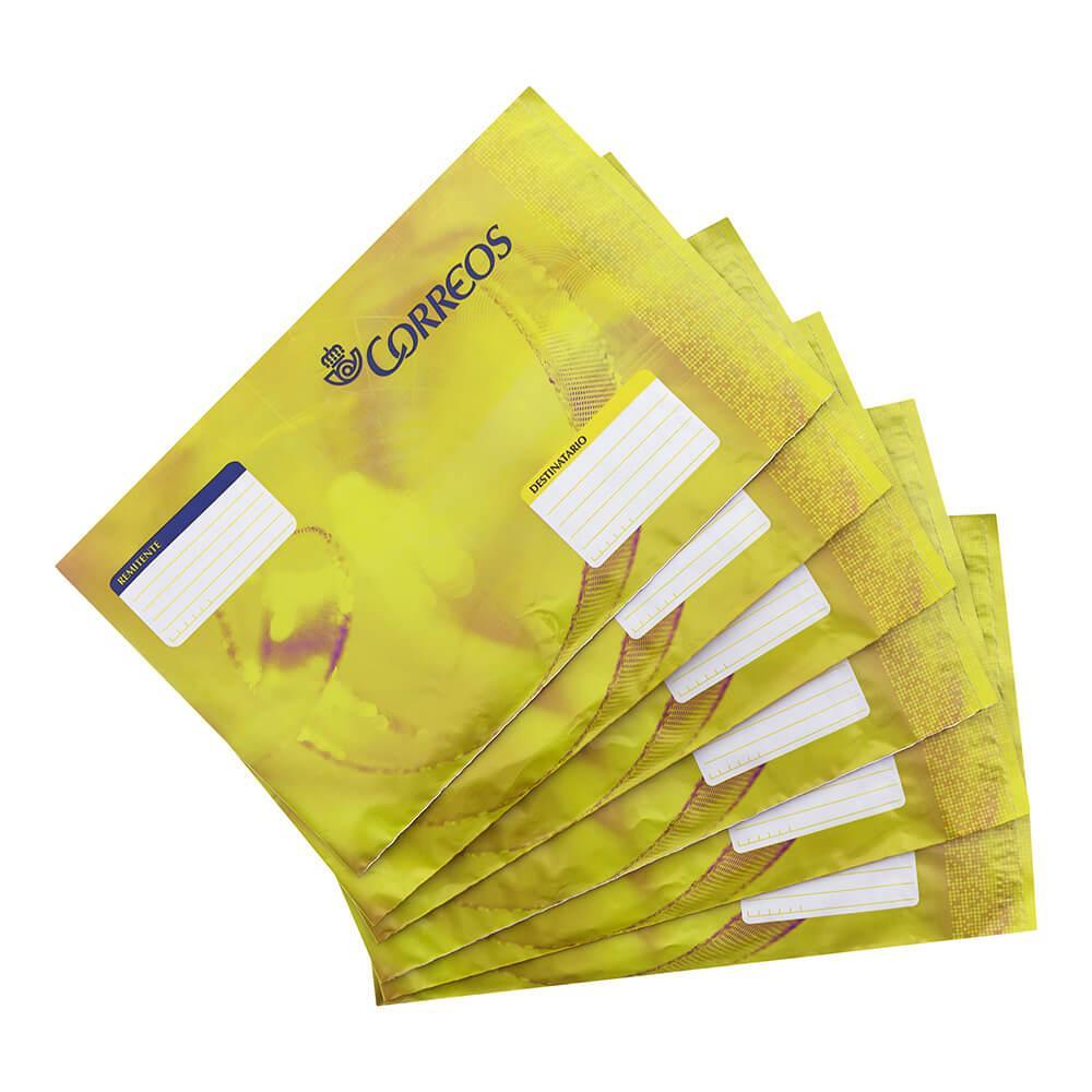 Pack 6 sobres de plástico acolchado pequeños